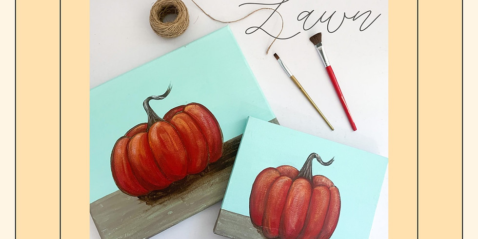 Pumpkins on the Lawn painting event