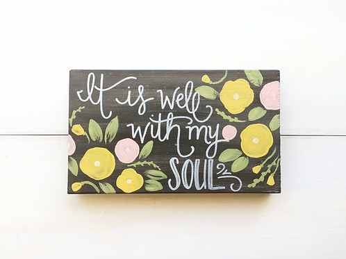 It is well - gray & floral