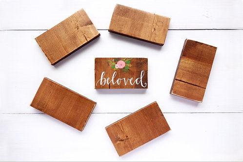 Custom painted wood block