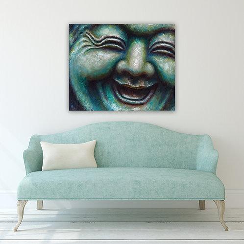 """30"""" x 20"""" Buddah #9 Giclee Canvas Print"""