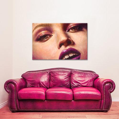 "24"" x 16"" Strawberry Blond Giclee Canvas Print"