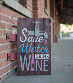 35) Save Water Drink Wine