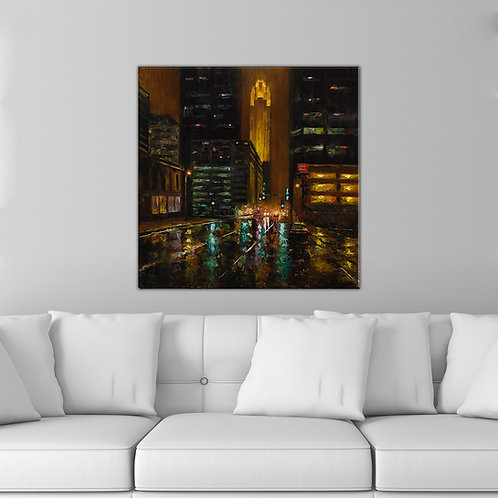 "24"" x 24"" 10th & Marquette Giclee Canvas Print"