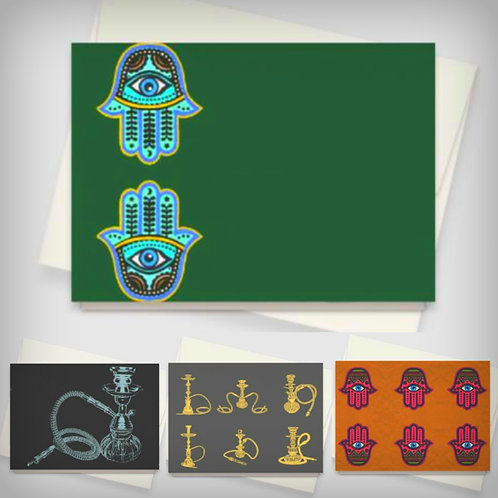 Middle-Eastern  8 Cards Stationary Set