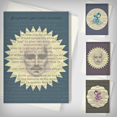 Gibran 8 Cards Stationary Set