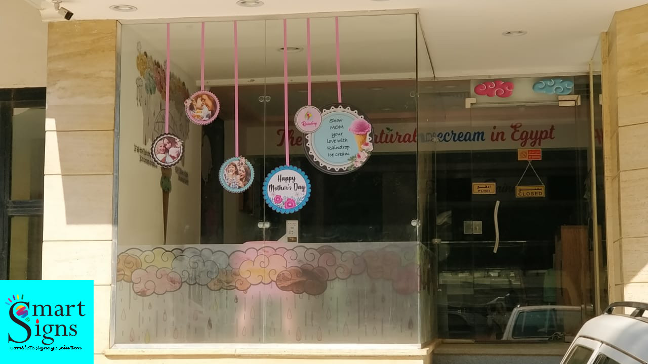 RAINDROP ICECREAM WINDOW DISPLAY