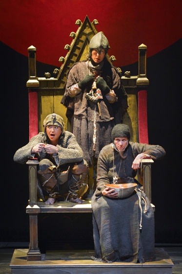 Frances McDormand as one of the three witches at Berkeley Rep's Macbeth