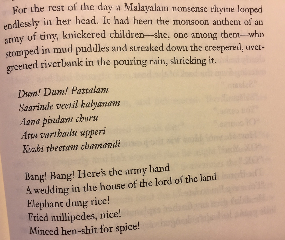 """Malayalam nonsense verse from """"The Ministry.."""""""