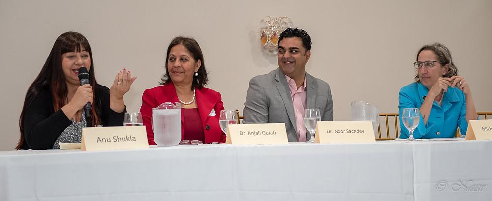 Anu Gulati, Anjali Gulati, Noor Sachdev, Michele Dauber