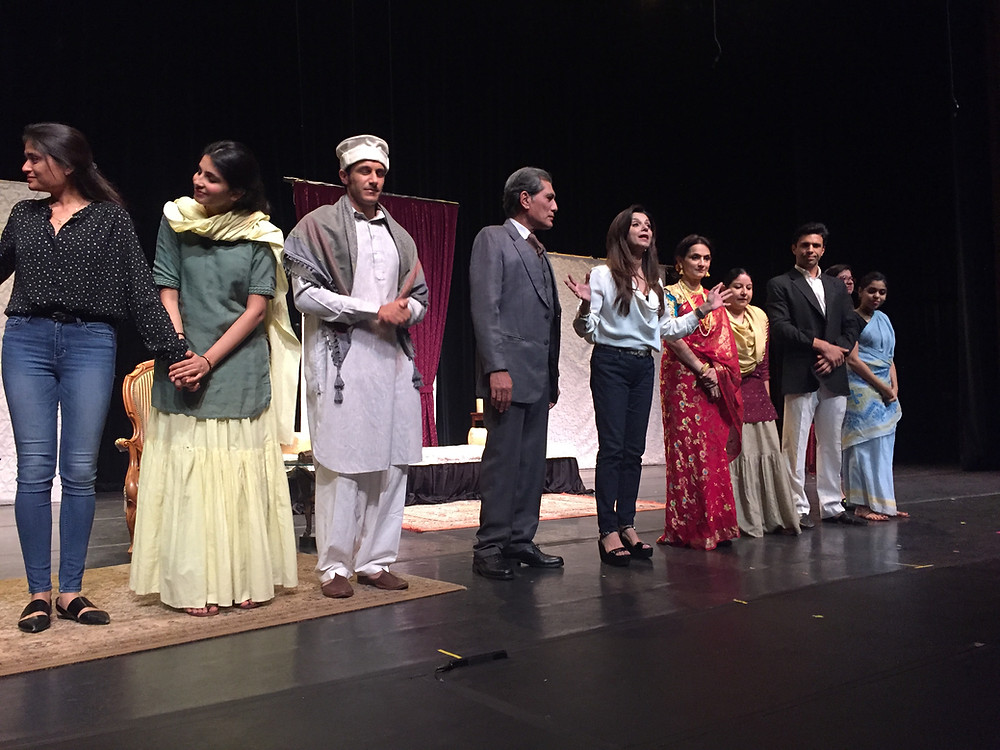 Lillette Dubey (center) brought to the stage the life of thumri singer Gauhar Jaan, India's first female recording artist, in an evening fundraiser for EnActe Arts, held at the Mexican Heritage Theater in San Jose, Calif. Joining Dubey onstage after the performance: Sanjana Shukla, Danny Sura, Denzil Smith, Rajeshwari Sachdev, Zila Khan, Rajeev Siddhartha and Sukanya Chakraborti.