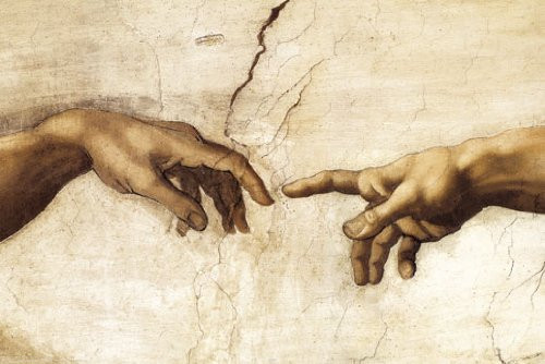 Creation of Life, Hands, Leonardo da Vinci