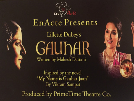 """""""Gauhar"""", a play about India's first female recording artist, directed by Lillette Dubey"""