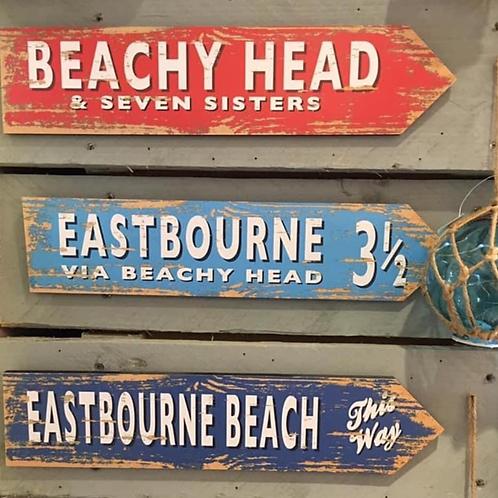 Wooden Eastbourne Signs .. 3 Designs