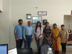 Dr. Murthy, Wikes University (Dean), visiting our associate's office