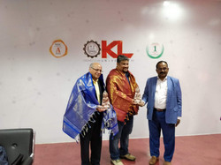 Dr. Murthy, Wilkes University (Dean), meeting officials at KL University, Vijayawada.
