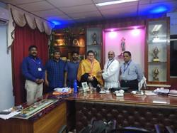 Visit by Dr. Zaboski, University of Scranton (Dean), visit to Andhra Loyola College, Vijayawada.