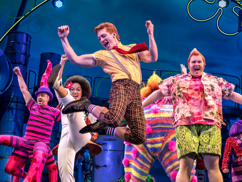 SpongeBob SquarePants: The Broadway Musical directed by Tina Landau, Ethan Slater jumping