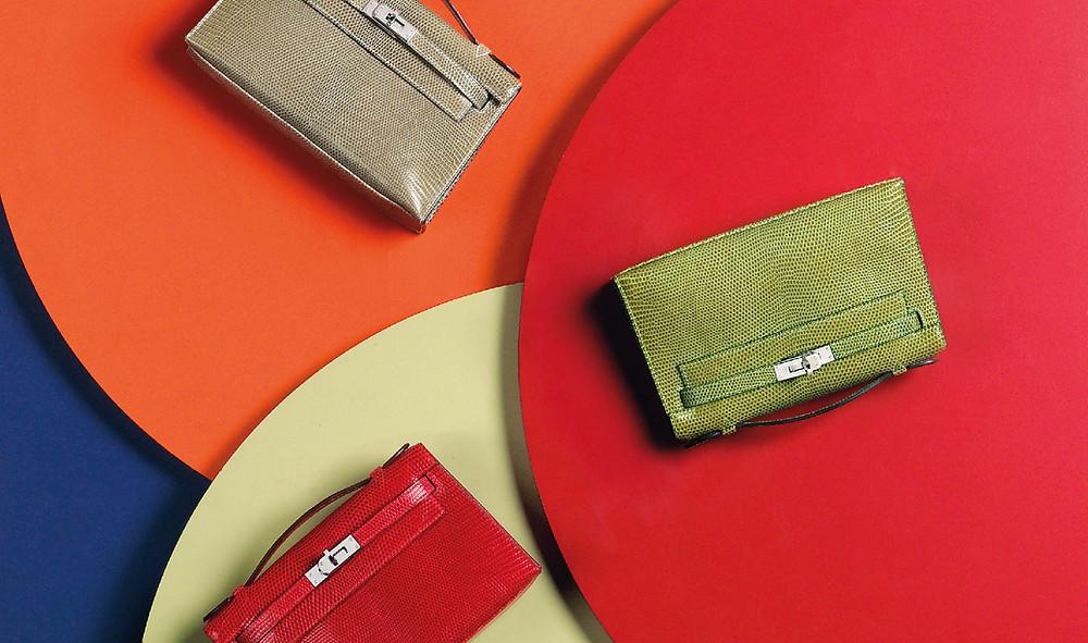 Christie's Handbags layout of three Hermes Kelly Bags