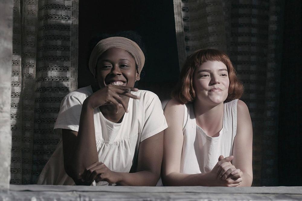 """Moses Ingram smiling as Jolene in Netflix's """"The Queen's Gambit"""" 2020"""