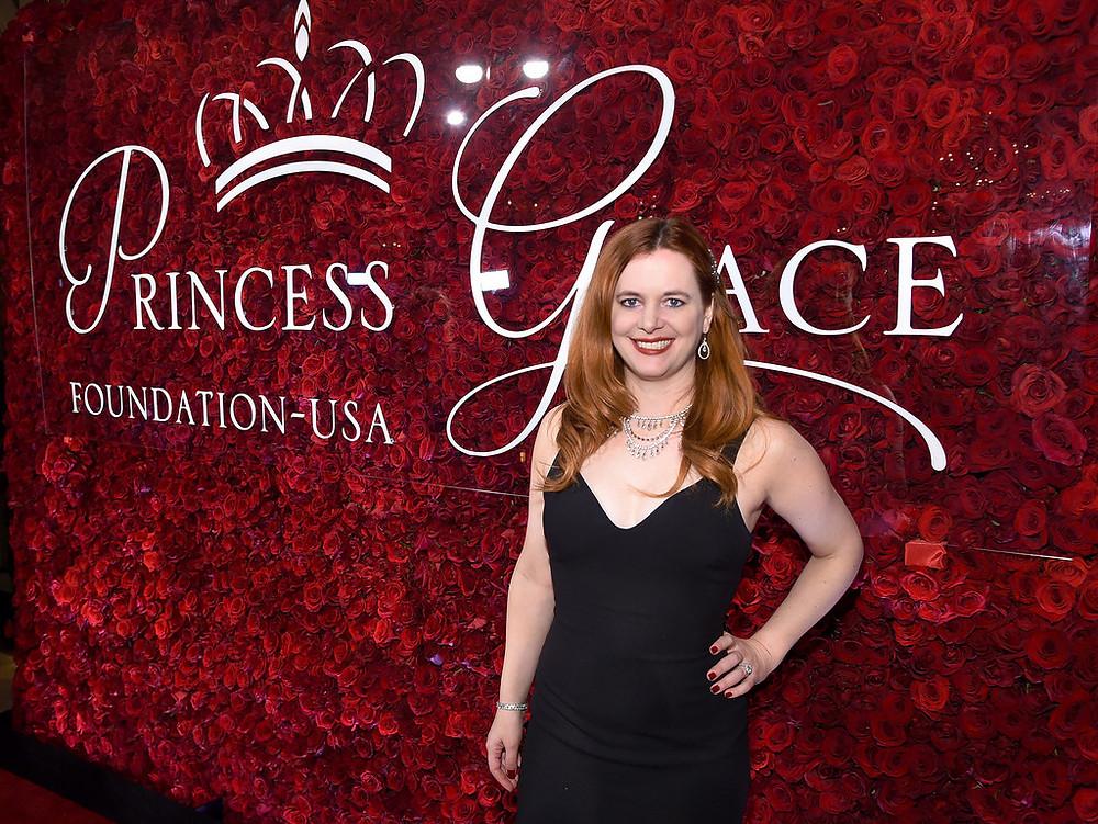 Brisa Trinchero at the Princess Grace Foundation-USA Award Gala in a black dress