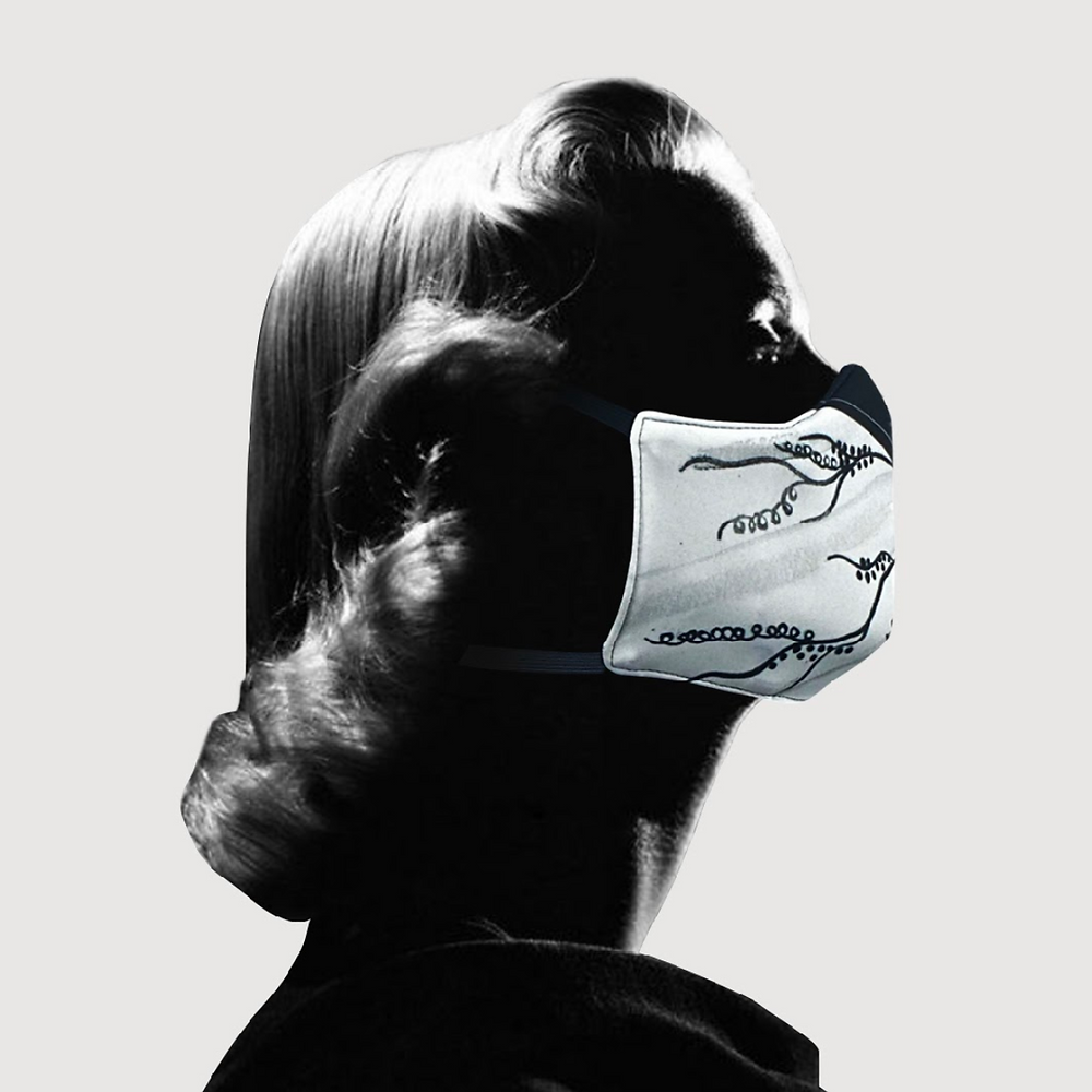 """Princess Grace Foundation-USA Paul Tazewell and NeffNYC face mask design for """"Rear Window"""""""