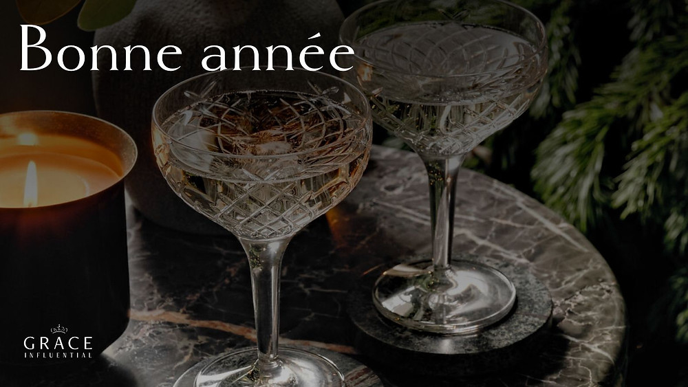 Bonne année from Grace Influential, featuring our favorite champagne stemware to ring in the new year