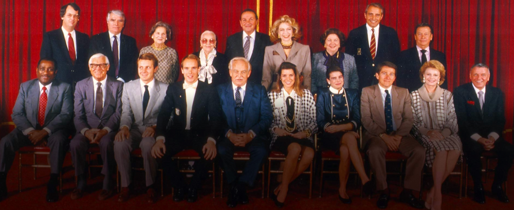 the founding members of the board for the princess grace foundation-usa with frank sinatra