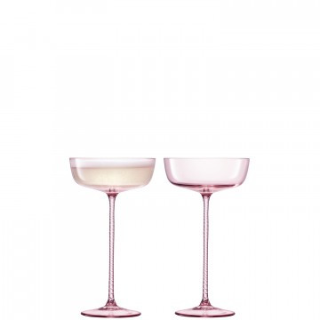 Champagne Theatre Champagne Saucer in Dawn Pink - Set of Two - from Gracious Style