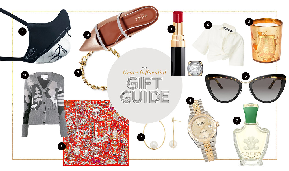 The Grace Influential Holiday Gift Guide in 2020 laying out all the items in a collage