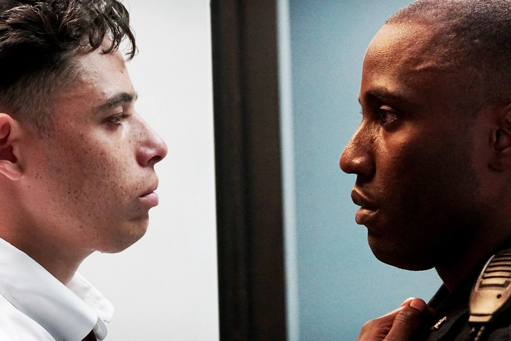 Anthony Ramos (left) and John David Washington star in 'Monsters and Men'