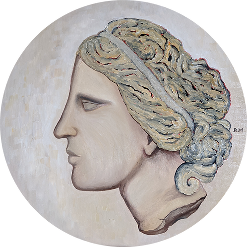 'The Head of Venus' Decorative Fine Art Oil Painting by D. Mansfield