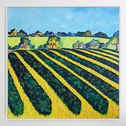 'Prettyfields Vineyard' Landscape Fauvism Oil Painting