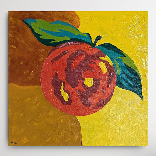 'The Dancing Orange' Fruit Oil Painting by D.Mansfield