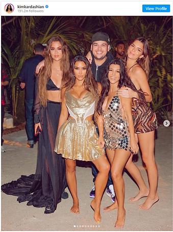 Kim Kardashian | 40th Birthday | Tahiti