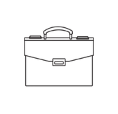 Business Travel Briefcase Icon