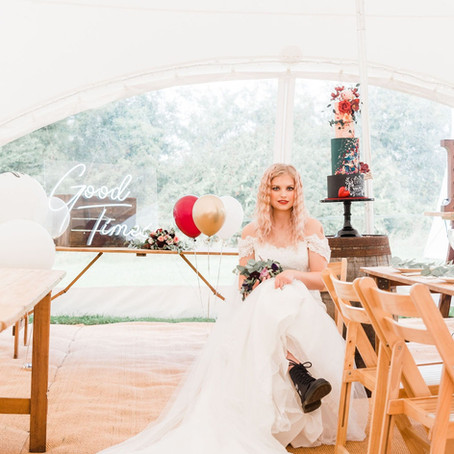 Rock 'n' Roll styled wedding at the Cider Orchard.