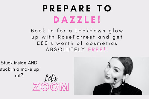 Lock Down Zoom tutorial with Rose & receive £80 worth of Make up FREE!