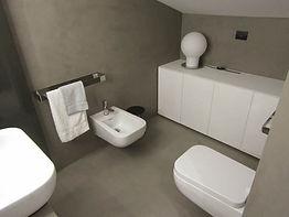 realizzazione di bagno in resina
