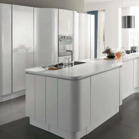 Cucina aran cucine modello volare bianco lucido