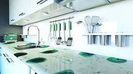 resina a colata per cucine e tavoli