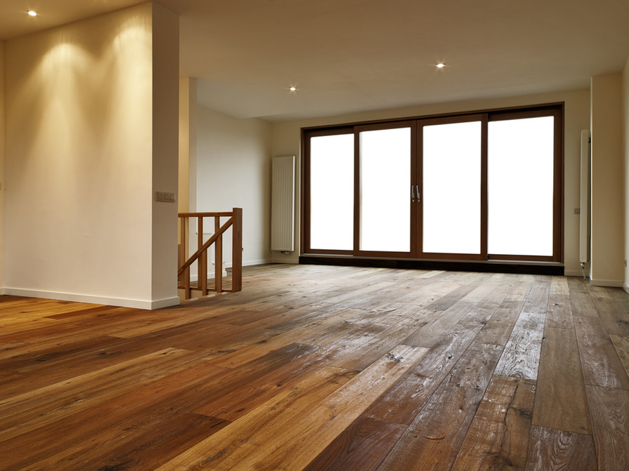 Empty big living room, there is a path f