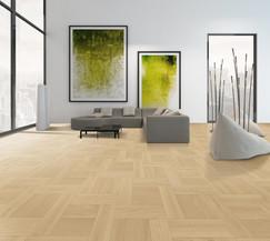 Pavimento in legno TWENTY Rovere Commerciale Spazzolato Verniciato Genesis