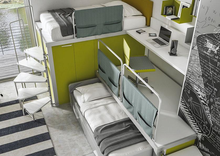 camerette design roma eur, camerette moretti compact a ponte, camere ragazzi su misura, progetto camerette roma eur