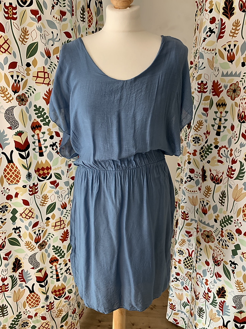 Robe Bleue fluide MADE IN ITALY (M)