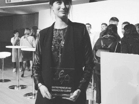 """La Chouette Curieuse reçoit le prix """"Entrepreneur au service du client"""" au concours """""""