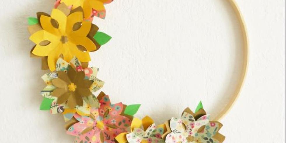 Atelier DIY / Couronne de fleurs en origami