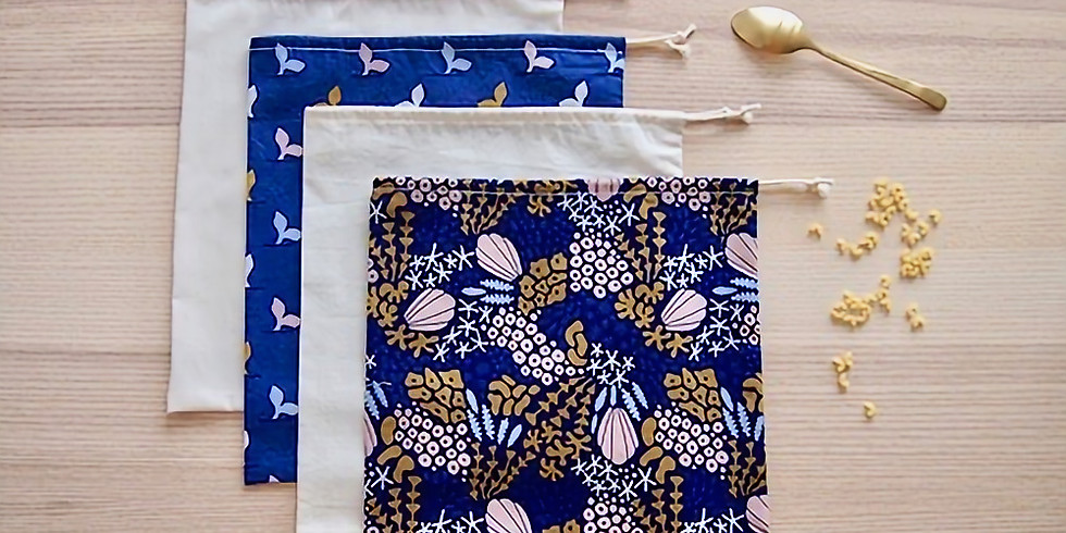 Apprendre les bases de la couture / Atelier sacs à vrac