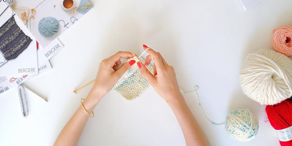 Atelier Tricot / Apprendre à tricoter un bandeau