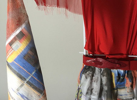 20 stories, 20 images on 20 scarves to create 1 costume