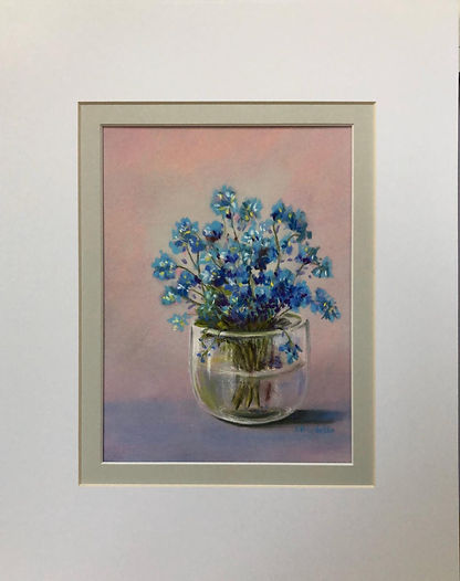Forget-Me-Nots On Purple Table.jpeg